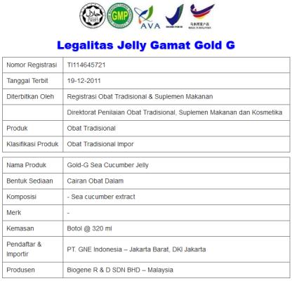 LEGALITAS JELLY GAMAT GOL-D